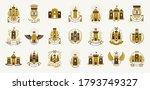 vintage castles vector logos or ... | Shutterstock .eps vector #1793749327