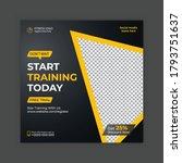 gym   fitness social media post ...   Shutterstock .eps vector #1793751637