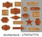 set of wooden different...   Shutterstock .eps vector #1793767774