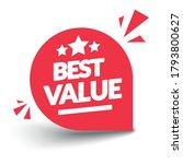 vector illustration best value... | Shutterstock .eps vector #1793800627