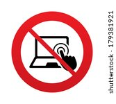 touch screen laptop sign icon.... | Shutterstock .eps vector #179381921