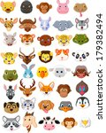 Cartoon Animal Head Collection...