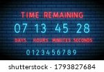 neon clock counter. countdown...