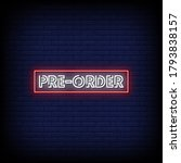 Pre Order Neon Signs Style Text ...