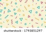 memphis design style geometric... | Shutterstock .eps vector #1793851297
