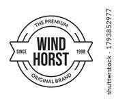 vintage badge  label or logo.... | Shutterstock .eps vector #1793852977