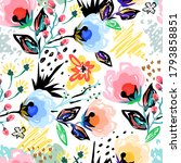 cute floral pattern in the... | Shutterstock .eps vector #1793858851