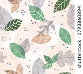 beautiful seamless doodle... | Shutterstock .eps vector #1793860894