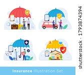 insurance design concept vector ... | Shutterstock .eps vector #1793874394