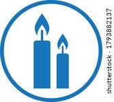candle icon. memorial symbol...