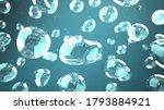 aerosol in the air. 3d... | Shutterstock . vector #1793884921