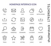 Homepage Interface   Line Icons ...