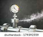 Gas Or Steam Leaking From An...