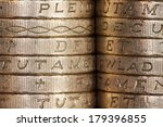 British Pound Coins  Edge On