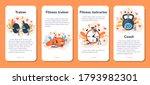 fitness trainer mobile... | Shutterstock .eps vector #1793982301
