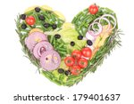 heart shape made with various... | Shutterstock . vector #179401637
