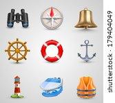 marine set. vector | Shutterstock .eps vector #179404049