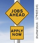 conceptual road sign on jobs or ... | Shutterstock . vector #179405141