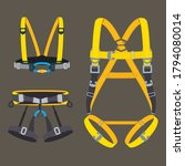 safety harness fall protection... | Shutterstock .eps vector #1794080014