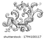 vintage baroque floral frame... | Shutterstock .eps vector #1794100117