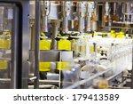 filling line of plastic bottles ... | Shutterstock . vector #179413589