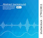 abstract background with sound... | Shutterstock .eps vector #179413811
