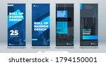 blue business roll up banner....   Shutterstock .eps vector #1794150001