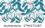 jungle pattern. foliage... | Shutterstock .eps vector #1794171187