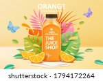 cold pressed orange juice ad... | Shutterstock .eps vector #1794172264