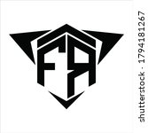fr logo monogram with wings...   Shutterstock .eps vector #1794181267