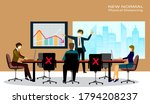 business meeting lifestyle... | Shutterstock .eps vector #1794208237