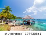 a small wharf in the caribbean... | Shutterstock . vector #179420861