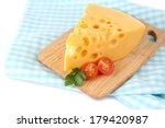piece of cheese and tomatoes ... | Shutterstock . vector #179420987