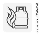 lpg gas tank  gas cylinder...   Shutterstock .eps vector #1794248347