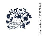 lost in the desert slogan and... | Shutterstock .eps vector #1794260941