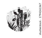 lost in the desert sloga and...   Shutterstock .eps vector #1794261367