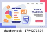 budget tracking smartphone for... | Shutterstock .eps vector #1794271924