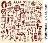 Cave Painting Vector Primitive...