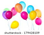 flying balloons isolated on a... | Shutterstock . vector #179428109