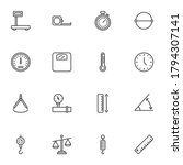 scale measurement line icons... | Shutterstock .eps vector #1794307141