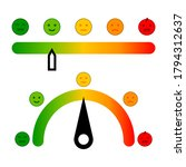 color scale with arrow. set... | Shutterstock .eps vector #1794312637