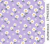 seamless of little white flower ... | Shutterstock .eps vector #1794313351