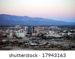 Skyline Of Tucson  Arizona  At...