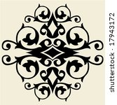 baroque decoration | Shutterstock .eps vector #17943172