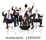 happy business team chair | Shutterstock . vector #17943292