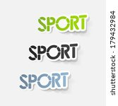 realistic design element  sport | Shutterstock .eps vector #179432984