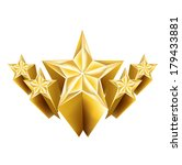 five dimensional golden stars... | Shutterstock .eps vector #179433881