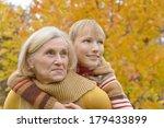 Nice Grandmother With Boy...