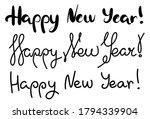 set of inscriptions happy new...   Shutterstock .eps vector #1794339904
