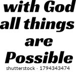 with god all things are... | Shutterstock .eps vector #1794343474